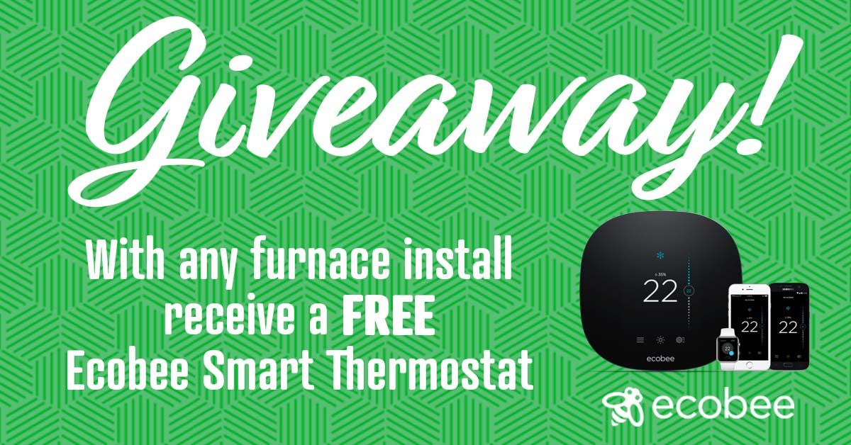 Receive a FREE ecobee Lite 3 Smart Thermostat with the purchase and installation of ANY furnace.